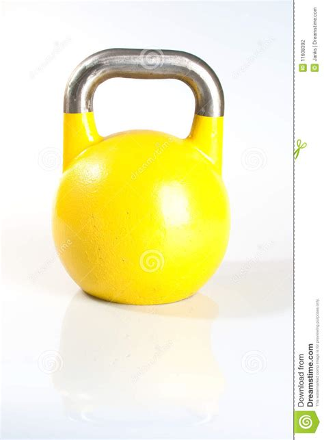 kettlebell yellow background preview dreamstime
