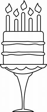 Birthday Cake Coloring Pages Happy Stamp Digi Stamps Templates Cakes Digital Drawing Read Colored Wordpress sketch template
