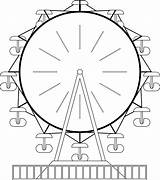 Ferris Wheel Coloring Sheet Clipart Clip Cliparts Pages Template Library Paris Colouring Comments Templates Cartoon Coloringhome sketch template
