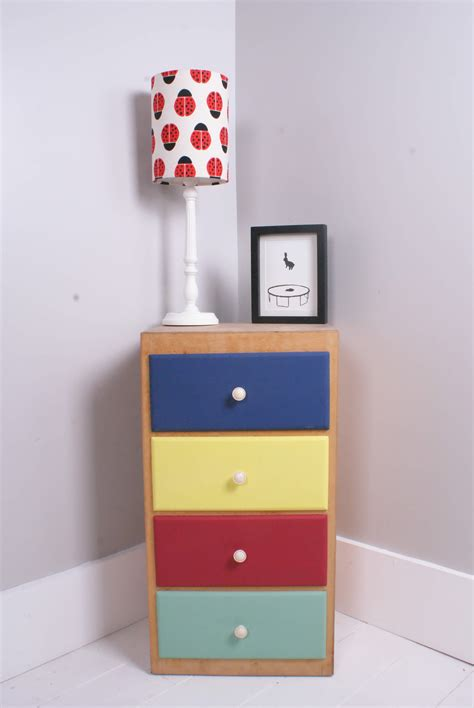 Children's Storage Cabinet with Colourful Drawers   Blue ...