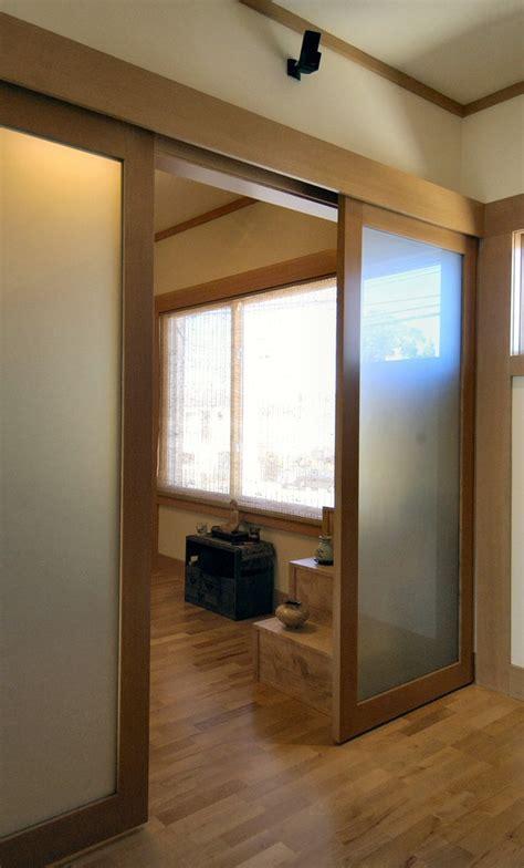 sliding door valance living room contemporary  glass