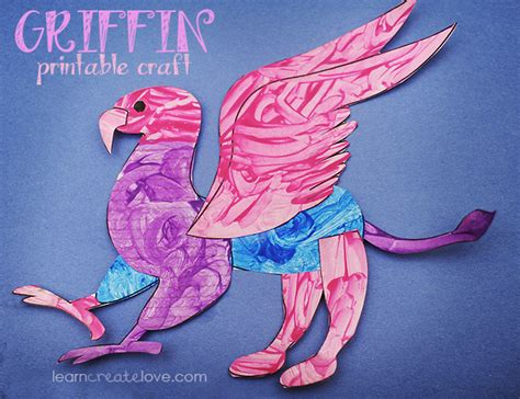 Printable Griffin Craft (greek And Roman Mythology