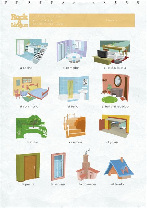 rooms   house picture dictionary rockalingua