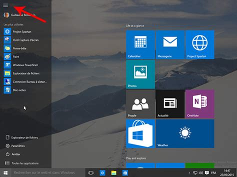 probleme icone bureau windows 10 comment agrandir le menu démarrer ou passer
