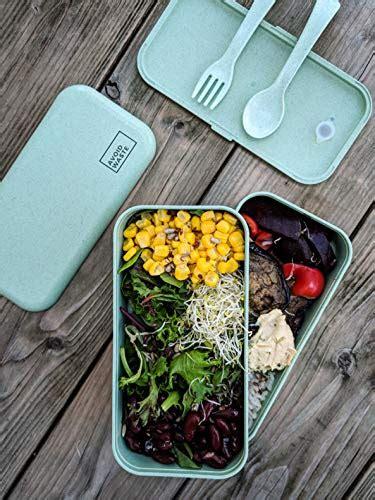 avoid waste lunchbox mit zwei faechern aus weizen ohne
