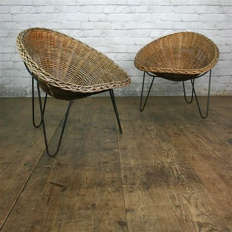 mid century wicker tub chair by conran 2 in stock