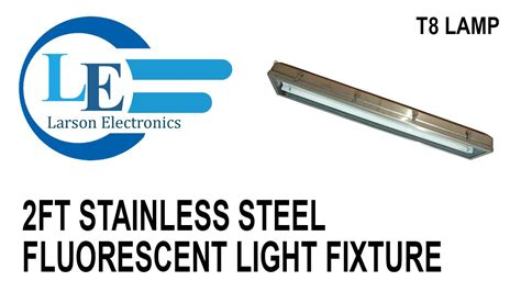 2ft stainless steel fluorescent light fixture hazardous