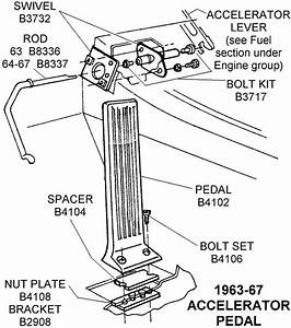 1963-67 Accelerator Pedal - Diagram View