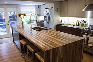 English Walnut Waterfall Island-Maryland Wood Countertops