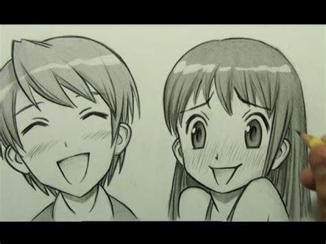 draw manga facial expressions joy embarrassment