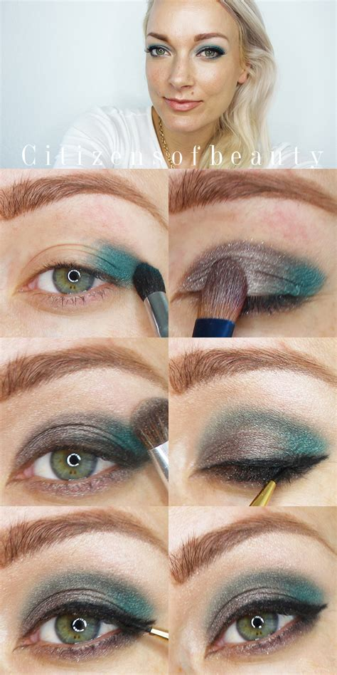 fall eye makeup tutorial blue metallic eyeshadow