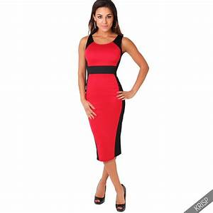 womens celeb midi dress contrast hourglass crew neck With robe midi moulante