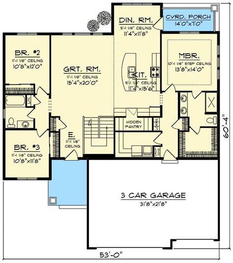 Open Concept Floor Plan by Plan 89987ah Craftsman With Open Concept Floor Plan