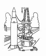 Rocket Coloring Launch Ship Pages Ready Launcher Template Rockets Print Templates sketch template