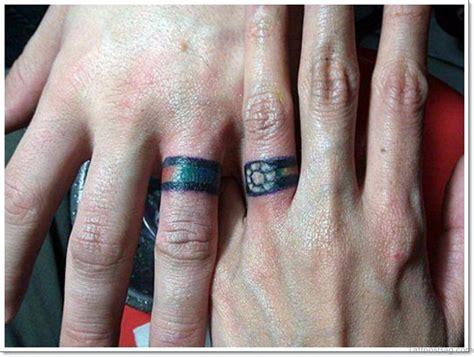 beautiful wedding ring tattoos  finger