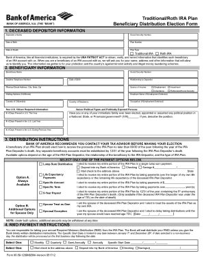 bank  america payable  death form fill