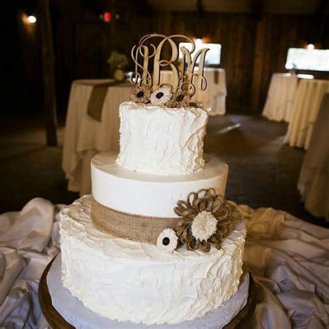 wedding cake topper rustic wedding decor couple monogram