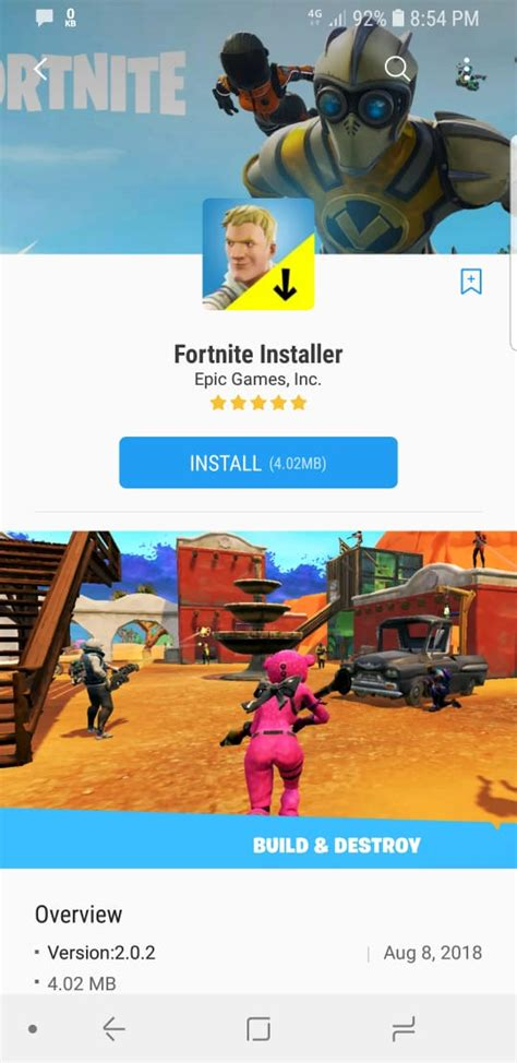 fortnite installer fortnite 5 20 android apk for your device using