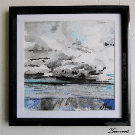 cadr 233 d 233 co aquarelle mer apr 232 s la pluie design contemporain cadre d 233 co aquarelle encre