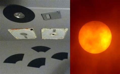 quick diy sun filter   floppy disk