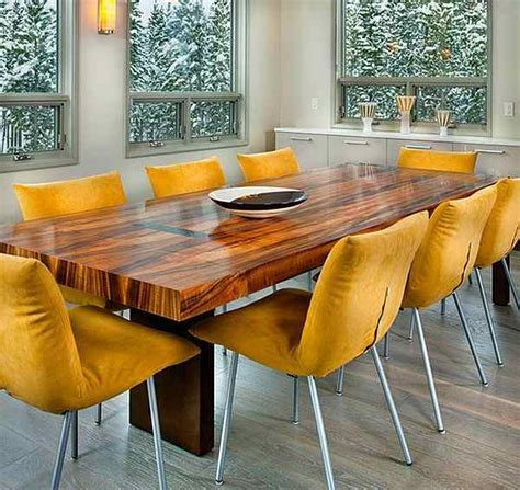 original and bright modern yellow leather dining chairs