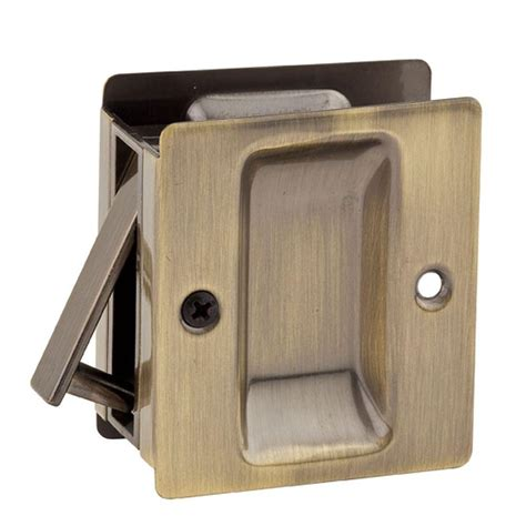 Closet Door Locks by Kwikset Notch Antique Brass Closet Pocket Door Lock