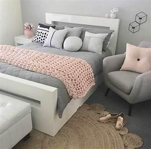 1001+ conseils et idées pour une chambre en rose et gris sublime Deco chambre blanche