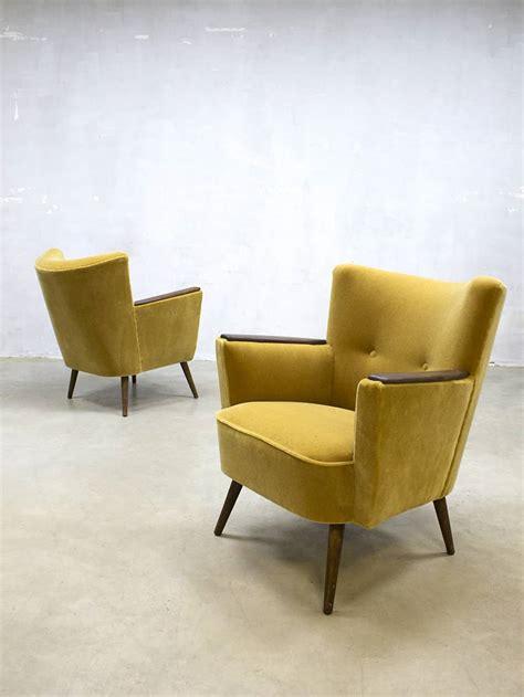 vintage club chair vintage cocktail chair velvet arm chair velours lounge 3172
