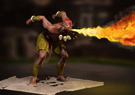 Dhalsims Yoga Flame Looks Even Hotter In 3d Shoryuken