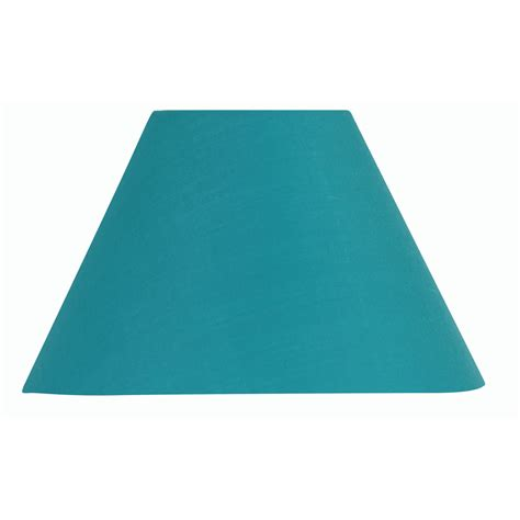 8 inch l shade turquoise blue cotton coolie l shade 8 inch s501 8bl