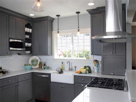 Gray Painted Kitchen Cabinets, Dark Gray Kitchen Cabinets