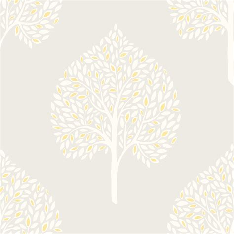 colours rowan french grey trees mica wallpaper