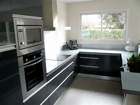 cuisine noir et grise cuisine et grise pas cher sur cuisine lareduc com