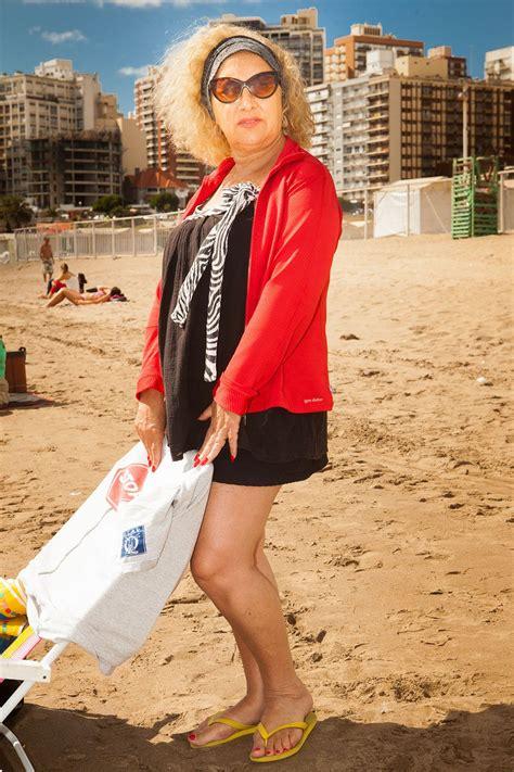 Mar Del Plata Beach Pictures Golden Ladies Argentina