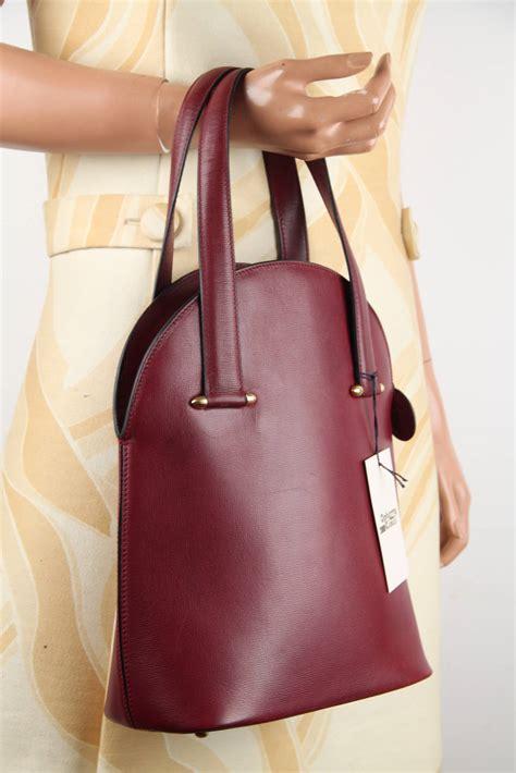 cartier vintage burgundy wine leather tote handbag purse satchel  sale  stdibs