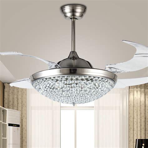 ceiling fan with chandelier light popular ceiling fan crystal chandelier buy cheap ceiling