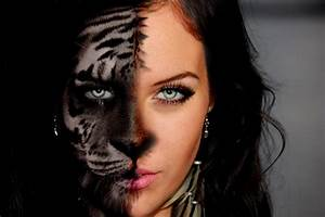 Create a Morph in Photoshop Tutorial Half Girl-Half Tiger ...