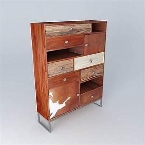 Cabinet Maison Du Monde : 3d cabinet montana maisons du monde cgtrader ~ Nature-et-papiers.com Idées de Décoration