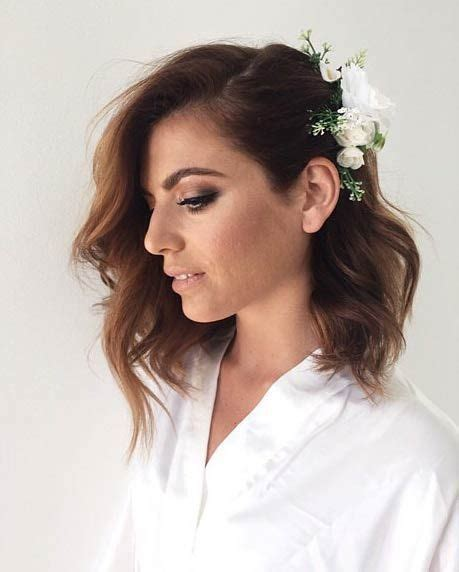 hair style with flower 25 best ideas about bob wedding hairstyles on 7716