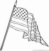 Flag Coloring Bandera Unidos Estados Colorear Printable Drapeau Coloriage Flaga Waving Kleurplaat Drawing Dibujo Bandeira Vlag Dibujos Desenho Flagge Colorir sketch template