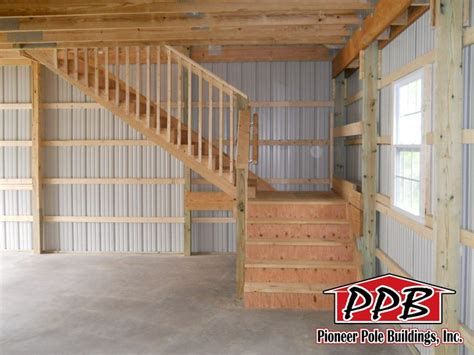 attic floor  stairs    pole building   options