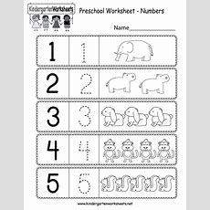 Preschool Worksheet Using Numbers  Free Kindergarten Math Worksheet For Kids