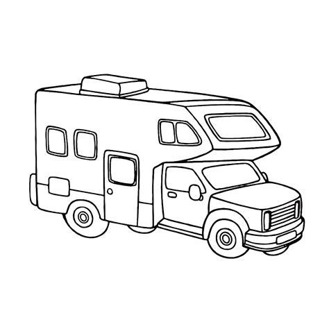 Caravan Kleurplaat caravans en cers kleurplaten kleurplatenpagina nl