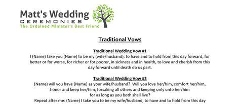 Matt's Wedding Ceremonies