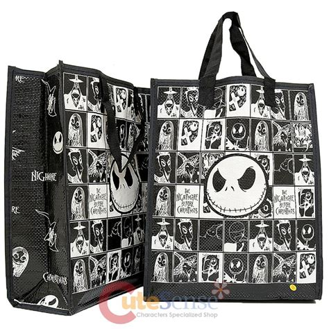 nightmare before christmas chracters shopper tote bag 2pc