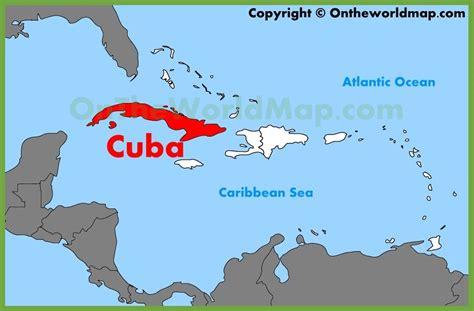 cuba located   map