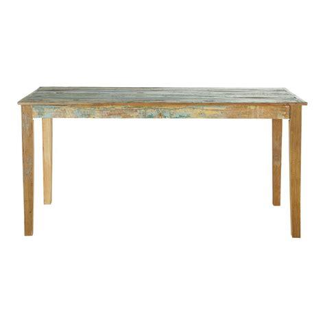 table de salle 224 manger en bois recycl 233 effet vieilli l 160 cm calanque maisons du monde