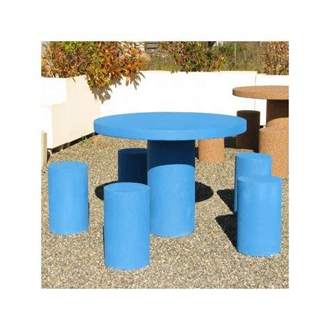 table de pique nique en b 233 ton arm 233 ronde dmc direct