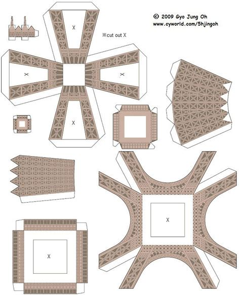 eiffel tower paper crafts    images eiffel