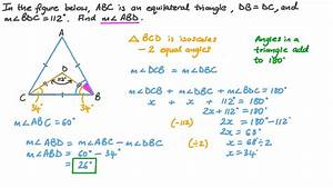 Video  Finding The Measure Of An Angle In A Triangle Using